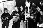 George Harrison, John Lennon, Paul MacCartney y Pete Best